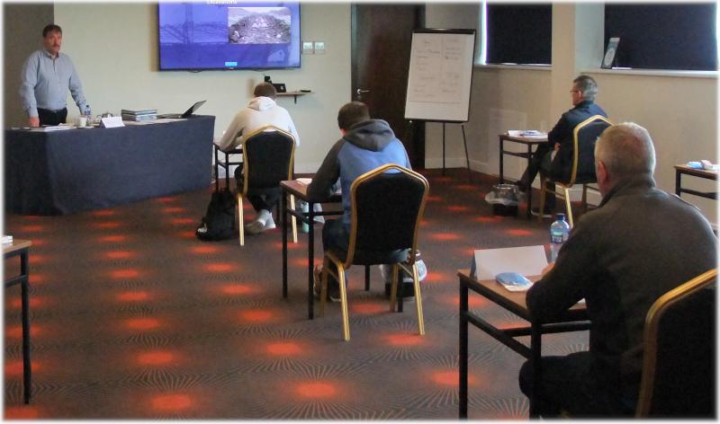 Padraig Training Safe Pass in Loughrea